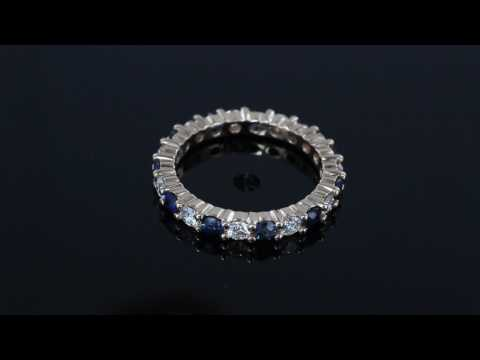 Browns Family Jewellers Sapphire and Diamond Full Eternity Ring