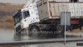 حوادث على الطريق الصحراوي.. وغرق سيارة نقل بسبب أمطار الإسكندرية !     -