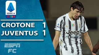 Juventus held to 1-1 draw by bottom dweller Crotone | ESPN FC Serie A Highlights