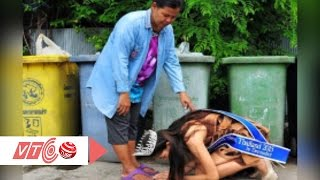 Xúc động hình ảnh Hoa hậu Thái Lan quỳ lạy mẹ