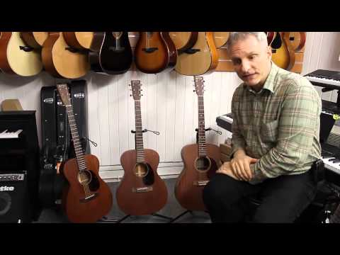 Overview of Martin guitars: 15 & 15M series