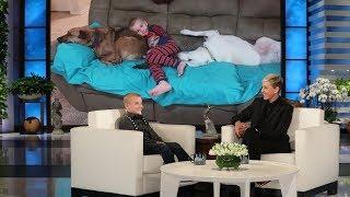 Ellen Welcomes Delightful Kid Dog Rescuer Roman McConn