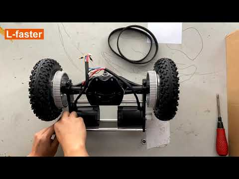 (L-faster) Electric mountain skateboard components assembled demo