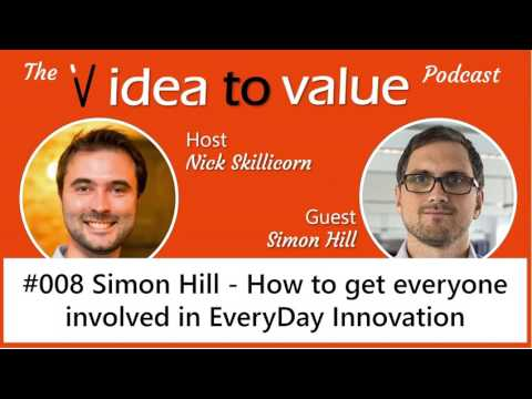 #008 Simon Hill - How to get everyone involved in EveryDay Innovation