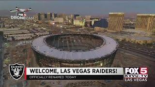 Welcome, Las Vegas Raiders!