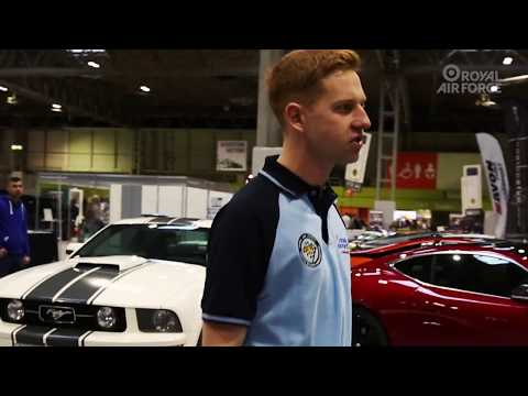 RAF Technician gives a tour of Autosport International Show