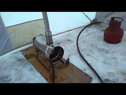 Самодельный газовый обогреватель для палатки