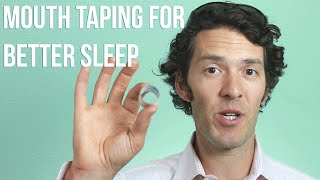 Mouth Taping at Night For Deeper REM Sleep