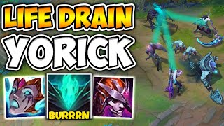 MAIDEN MELTS PEOPLE IN SECONDS WITH BURN BUILD YORICK! (LEGIT MONSTER) - League of Legends