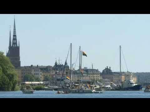 Stockholm's Gay Pride takes to the water amid coronavirus restrictions | AFP photo