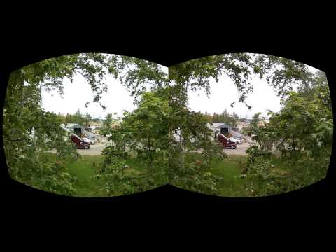 Oculus Rift Movie test 2 - More fisheye