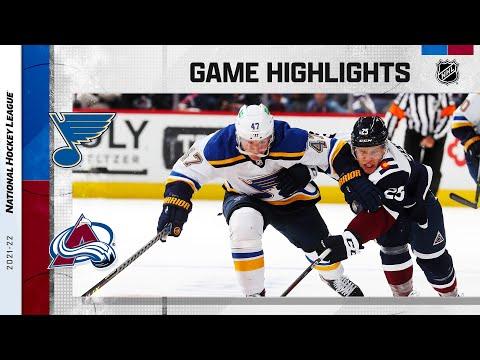 Blues @ Avalanche 10/16/21 | NHL Highlights