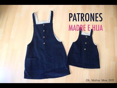 Patrones y costura de pichi para niñas (gratis en varias tallas)