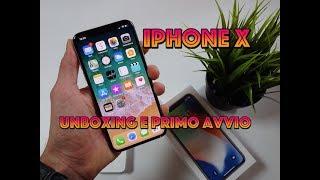 iPhone X :  Unboxing, primo avvio, FACE ID e come usare le gesture! (ITA)