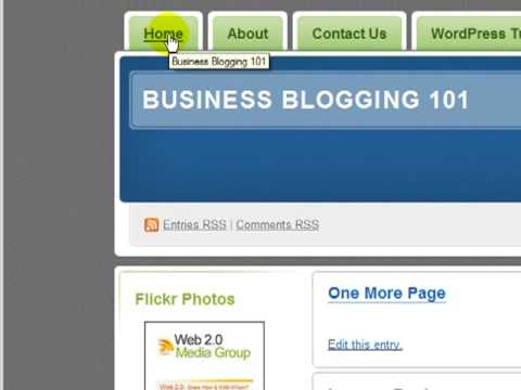 "WordPress Tutorial - How to Make a ""Child"" Page (Subpage) and How to Hide Sidebar Widget Link"