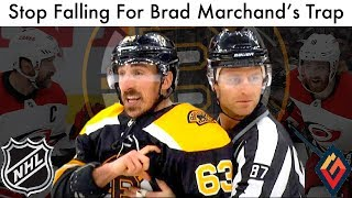 Stop Falling For Brad Marchand's Trap (Marchand & Williams Controversy/NHL Bruins & Hurricanes Talk)