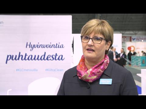 Arja Seppälä: KiiltoClean luo hyvinvointia puhtaudesta (Finnclean 2017)