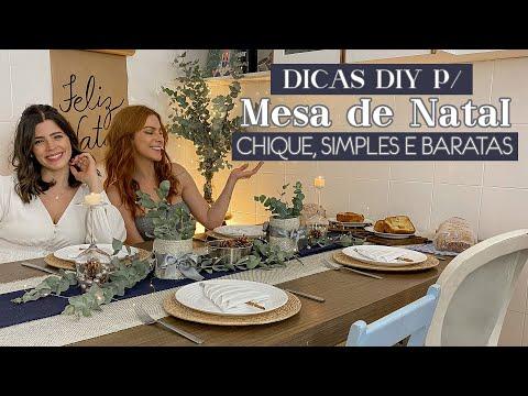 DIY Mesa de Natal Decorada Chique, Simples e Barata! ft. Ju Ferraz