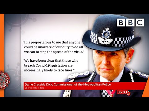 Covid-19: Rule-breakers 'increasingly likely' to be fined, Cressida Dick 🔴 @BBC News live – BBC