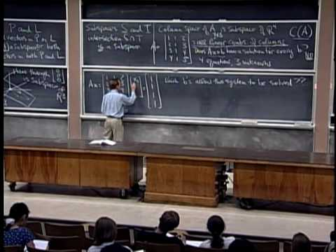 Baixar Lec 6 | MIT 18.06 Linear Algebra, Spring 2005