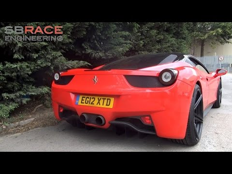 Decatted Armytrix Ferrari 458 Italia: Exhaust Sounds