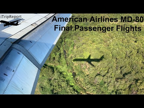 American Airlines MD-80 final day of passenger service + Retirement  #Super80Sendoff