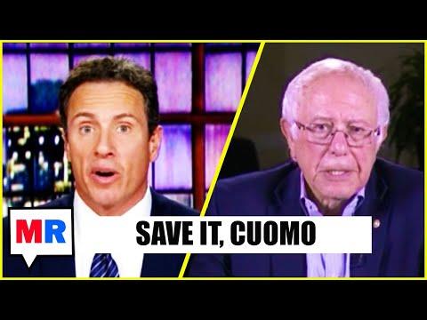 Chris Cuomo Badgers Bernie