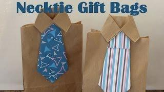 DIY Necktie Gift Bags