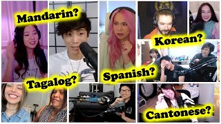 Compilation of OTV & Friends speaking other languages | ft. Toast, Jacksepticeye, Sykkuno, Lilypichu