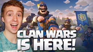 CLAN WARS ARE HERE! Clash Royale UPDATE! 🍞