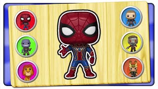 Kids Learn Shapes & Colors With Superheroes Kids Fun Game | Wrong Toys Puzzle | Kids Patrol Tv