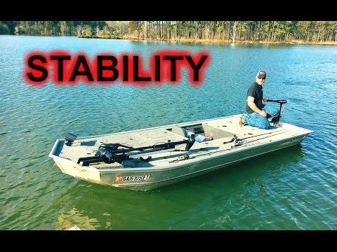 1448 Alumacraft Jon Boat Modification Conversion To Diy Bass