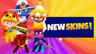 Every New Skin Gameplay!!🤩 + New Game Mood!!🔩 | Brawl Stars Sneak Peek