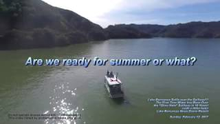 Lake Berryessa (sort of) Overlflows Spillway First Time in 10 Years Drone Report - 2-12-17 LB News