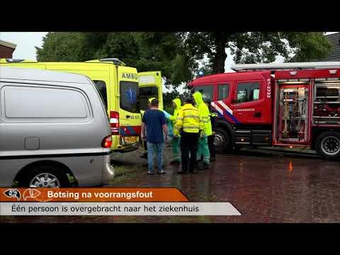 Botsing na voorrangsfout in Nieuw Weerdinge