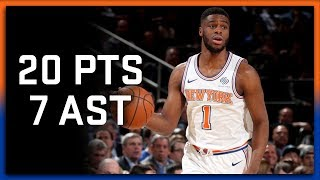 Emmanuel Mudiay Full Highlights Knicks vs Warriors 2.26.18 - 20 Points, 7 Assist