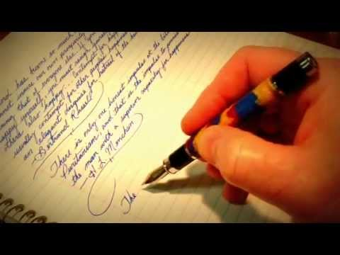 Asmr writing and drawing with a fountain pen