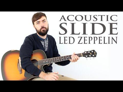 Como Tocar Rock Acustico Con Slide Estilo Led Zeppelin - Jimmy Page - Travelling Riverside Blues