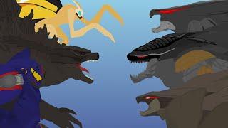 Team GODZILLA vs Team MUTO  |  FULL BATTLE  |  MonsterVerse & Pacific Rim Pivot Animation