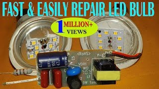 FAST & EASILY REPAIR LED BULB AT HOME