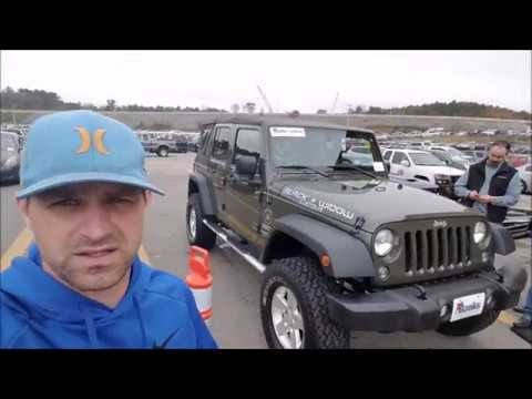 How much is a Jeep Wrangler at a Dealer Only Auction ?