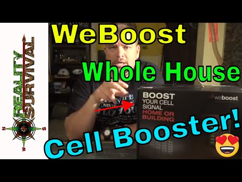 WeBoost Cell Phone Booster Review - Connect 4G Whole House Cell Booster For Preppers!