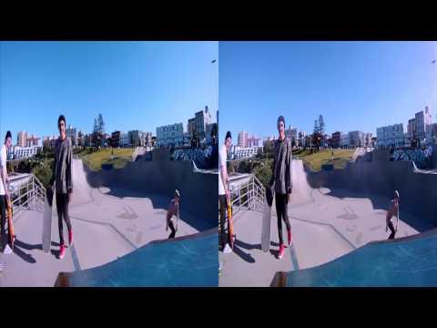 Bondi in 3D - 3D GoPro Skateboarding & Twixtor