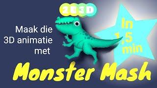 Monster Mash in 1,5 min - Online heel simpel leuke 3D animaties maken