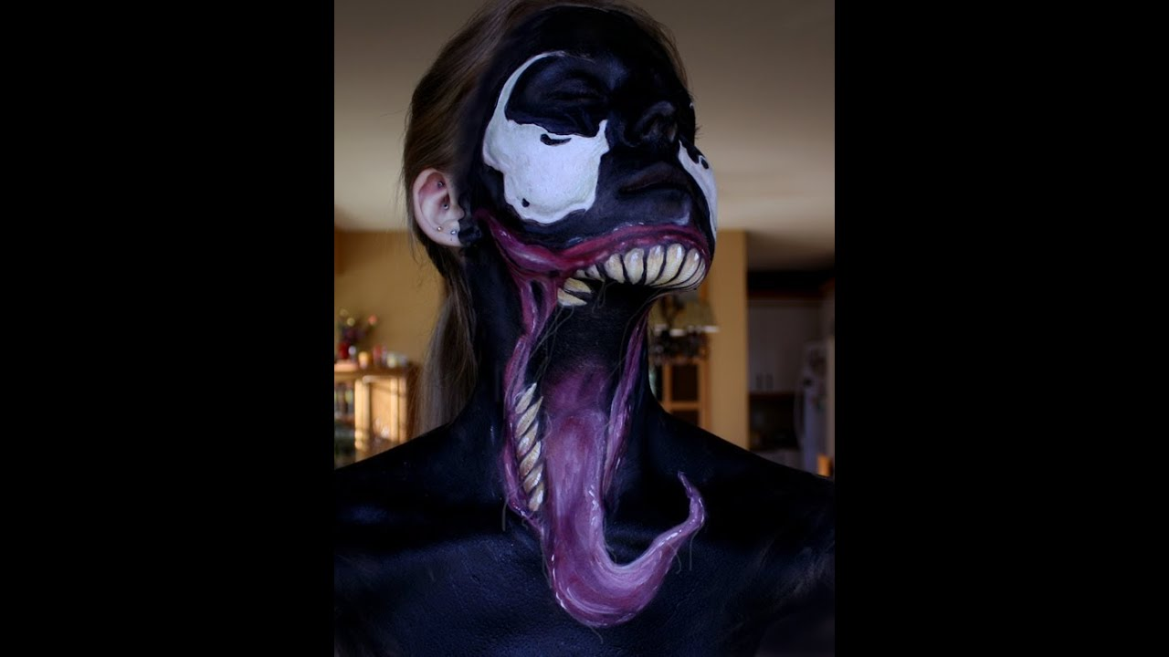 Venom Face Paint - YouTube