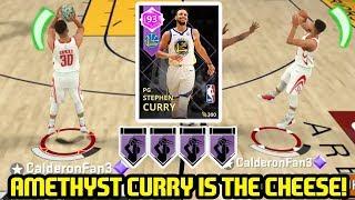 AMETHYST STEPH CURRY w/ HOF LIMITLESS JOINS GODSQUAD! NBA 2K18 MYTEAM GAMEPLAY