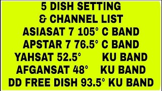 ASIASAT 7 #105 5 ADVANCE SETTING AND CHANNEL LIST 2018