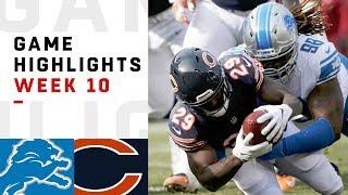 Lions vs. Bears Week 10 Highlights   NFL 2018