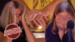 ALL Of Amanda Holden's Golden Buzzers On BGT!   Amazing Auditions