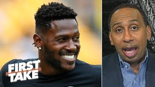 Antonio Brown's trade to the Raiders set a 'dangerous precedent' - Stephen A. | First Take